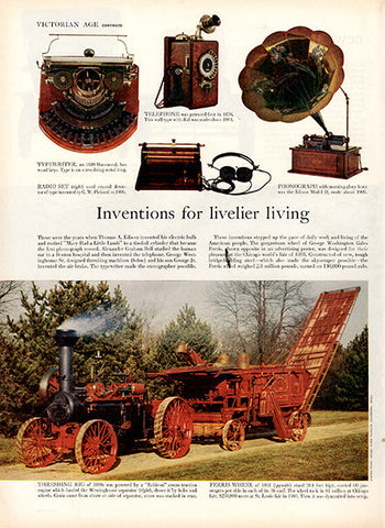 1956 Antique Inventions Original Miscellaneous Print Ad - TnTCollectibles