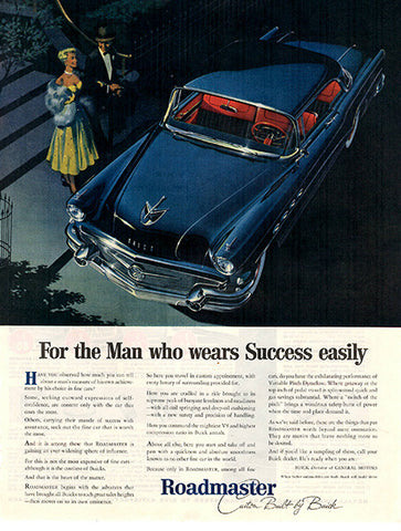 1956 Buick Roadmaster Automobile Original Car and Truck Print Ad - TnTCollectibles
