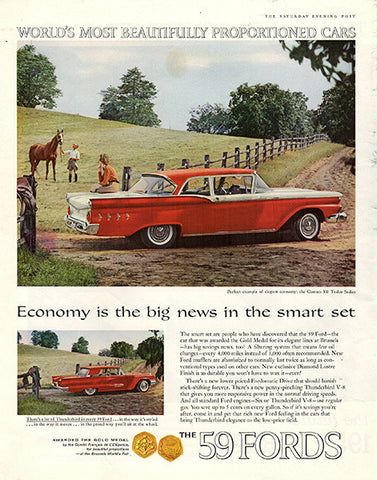 1958 Ford The 1959 Fords Original Car and Truck Print Ad - TnTCollectibles