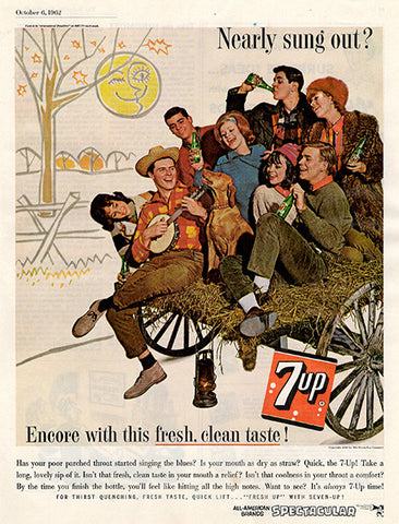 1962 7up 7 Up Soda Pop Original Food and Drink Print Ad - TnTCollectibles