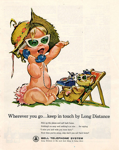 1962 Bell Telephone System Long Distance Original Utility Print Ad - TnTCollectibles