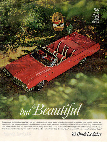1962 Buick 1963 Le Sabre Automobile Original Car and Truck Print Ad - TnTCollectibles