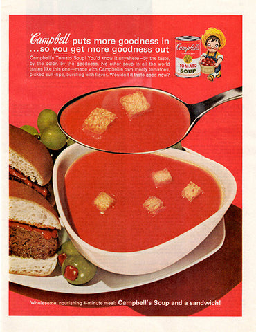1962 Campbell's Tomato Soup Original Food and Drink Print Ad - TnTCollectibles