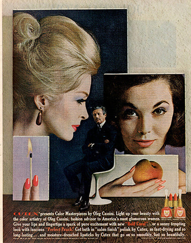1962 Cutex Nail Polish Original Health and Beauty Print Ad - TnTCollectibles