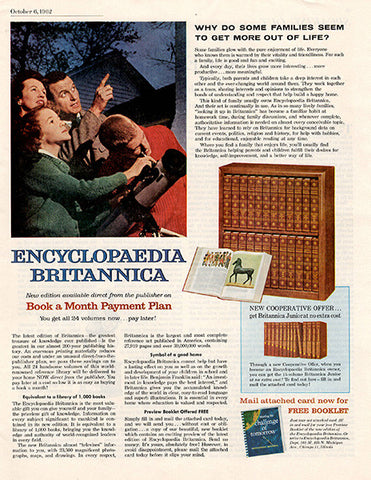 1962 Encyclopedia Britannica Encyclopedia Original Home and Office Print Ad - TnTCollectibles