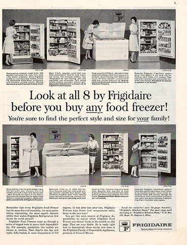 1962 Frigidaire Refrigerator Appliance Original Home and Office Print Ad - TnTCollectibles