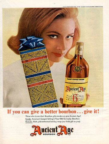 1964 Ancient Age Bourbon Whiskey Original Alcohol Print Ad - TnTCollectibles