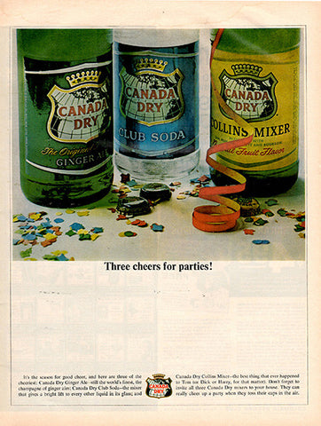 1964 Canada Dry Drink Mixer Original Food and Drink Print Ad - TnTCollectibles