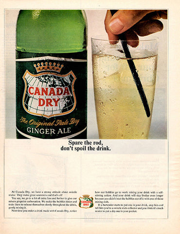 1964 Canada Dry Ginger Ale Original Food and Drink Print Ad - TnTCollectibles