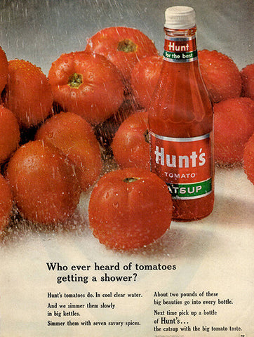 1964 Hunt's Tomato Catsup Ketchup Original Food and Drink Print Ad