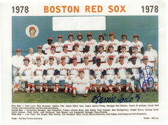 1978 Dual Boston Red Sox Autograph of Jerry Remy and Bernie Carbo Signed Team Photo - TnTCollectibles