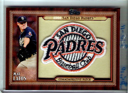 2011 Topps San Diego Padres Throwback Patch #TLMP-ML Mat Latos Card. - TnTCollectibles