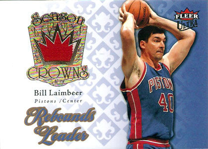 Rare Collectible Bill Laimbeer Game Used Jersey Patch Detroit Pistons Card - TnTCollectibles