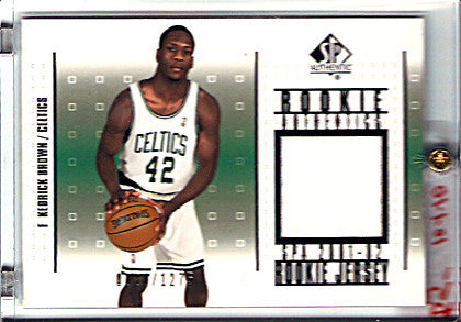2001-02 Upper Deck SP Authentic Kedrick Brown jersey memorabilia ROOKIE card - TnTCollectibles