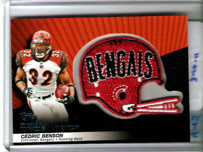Cedric Benson Throwback Patch Cincinatti Bengals Card - TnTCollectibles