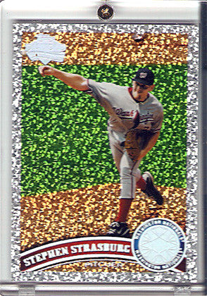 2011 Topps Diamond Anniversary #10 Stephen Strasburg Sparkle Parallel - TnTCollectibles