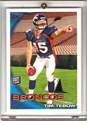 2010 Topps Special Tim Tebow Rookie Card 440B Rare Parallel of Tebow Pointing - TnTCollectibles