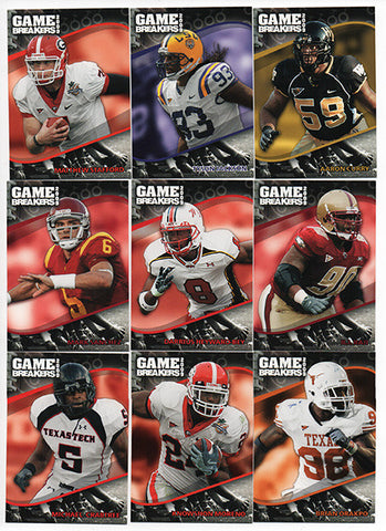 2009 Press Pass Game Breakers Complete Insert Set of 25 - TnTCollectibles - 1