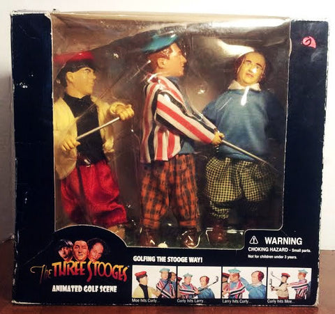 Large Three Stooges Animated Golf Figures with Sound - TnTCollectibles - 1