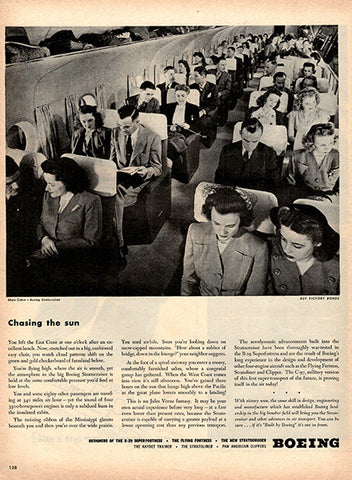 1945 Boeing Original Airplane Print Ad - TnTCollectibles