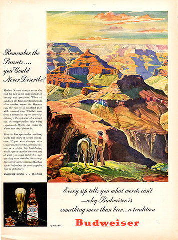 1945 Budweiser Beer Original Alcohol Print Ad - TnTCollectibles