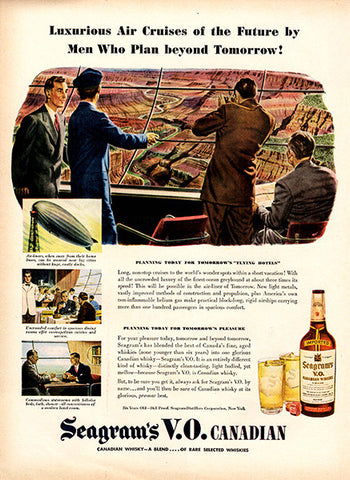 1945 Seagram's VO Canadian Whiskey Original Alcohol Print Ad - TnTCollectibles