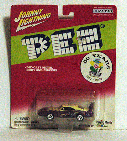 Pez Dispenser 50 Years 50th Anniversary Johnny Lightning Diecast Car - TnTCollectibles