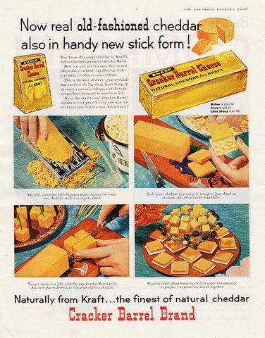 1959 Cracker Barrel Cheese Original Food and Drink Print Ad - TnTCollectibles