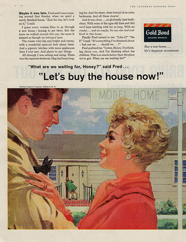 1959 Gold Bond Building Products Original Home and Office Print Ad - TnTCollectibles
