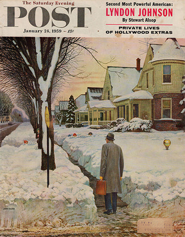1959 Jan 24 Saturday Evening Post Cover Original Shopping Print Ad - TnTCollectibles