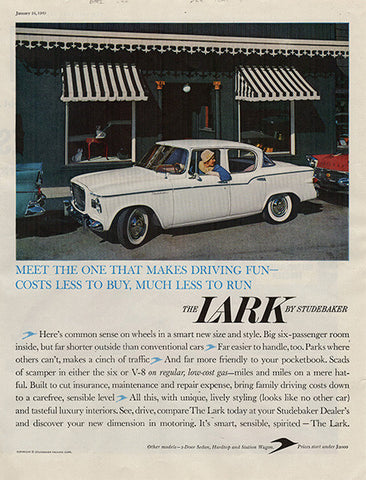 1959 Studebaker Lark Original Car and Truck Print Ad
