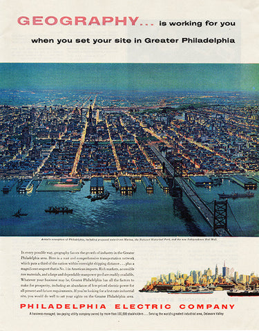 1959 Philadelphia Electric Company Original Public Utilities Print Ad - TnTCollectibles