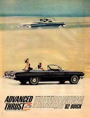 1961 Buick 1962 Advanced Thrust Convertible Automobile Original Car and Truck Print Ad - TnTCollectibles