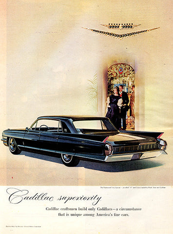 1961 Cadillac 1962 Automobile Original Car and Truck Print Ad - TnTCollectibles