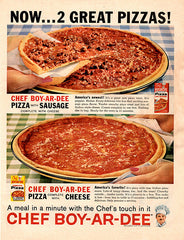 1961 Chef-Boy-Ar-Dee Pizza Original Food and Drink Print Ad - TnTCollectibles