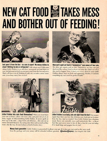 1961 Friskies Cat Food Original Home and Office Print Ad - TnTCollectibles
