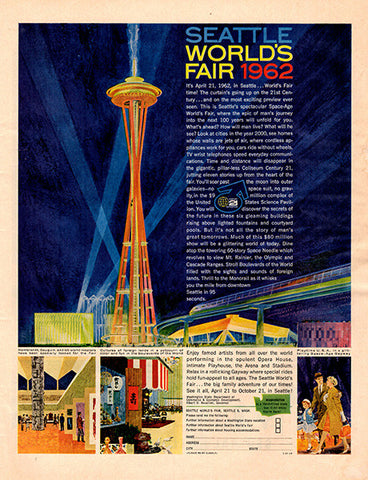 1961 Seattle World's Fair Original Historical Events Print Ad - TnTCollectibles
