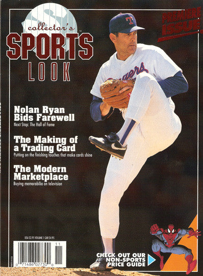 Collectible Nolan Ryan Collector's Sports Look Premier First Issue Ryan Retires - TnTCollectibles