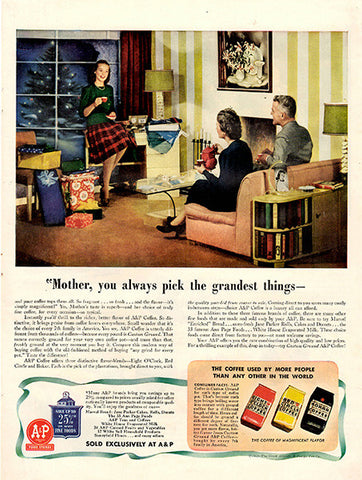 1941 Eight O'Clock Coffee Original Print Ad - TnTCollectibles