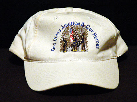 9/11 9-11 Embroidered Commemorative New York NY Firefighter Cap Hat - TnTCollectibles