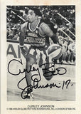 Rare Harlem Globetrotters Curley Boo Johnson Autograph Hand Signed Photo - TnTCollectibles - 1