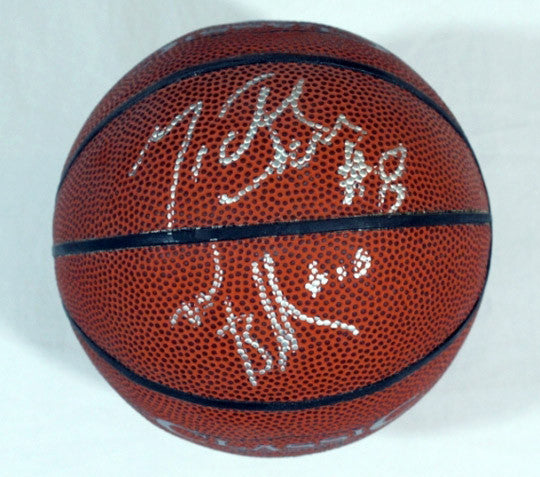 NBA Collectible Mike Bibby and Michael Dickerson Dual Autographed Signed Mini Basketball - TnTCollectibles - 1