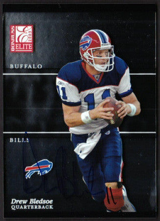 Rare Collectible Super Bowl Champion Drew Bledsoe Autographed Hand Signed Card - TnTCollectibles