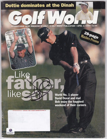 Former World #1 PGA Champion David Duval Autograph Hand Signed Golf World Magazine. - TnTCollectibles