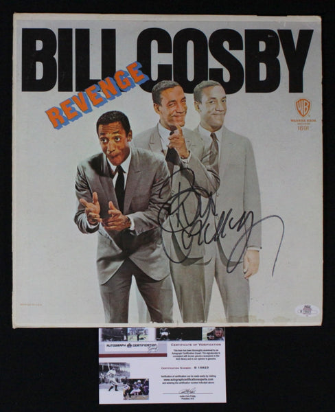 Rare Collectible Vintage Bill Cosby Autographed Hand Signed LP Revenge Record - TnTCollectibles