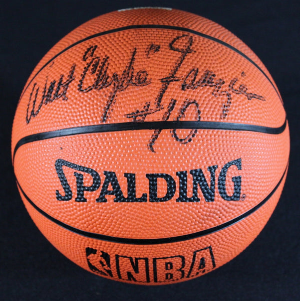 Rare NBA Collectible NY Knicks Walt Frazier Autographed Signed Mini Basketball - TnTCollectibles