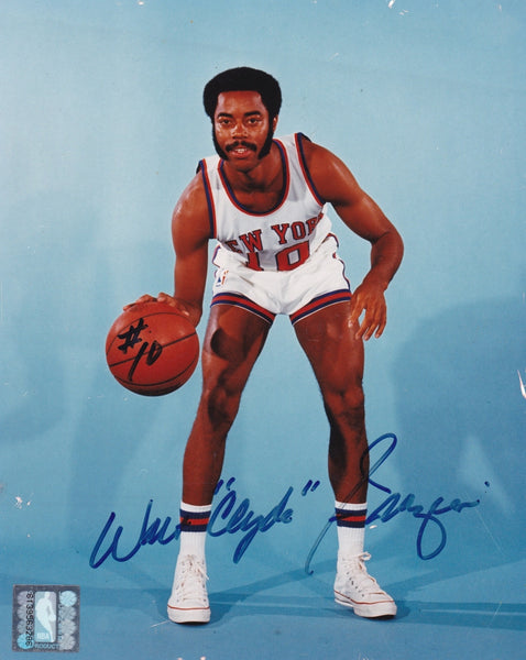 Rare NBA Collectible NY Knicks Walt Frazier Autographed Hand Signed Photo - TnTCollectibles