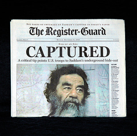 Complete Excellent Condition Newspaper of Dec 15th 2003 Saddam Hussein's Capture - TnTCollectibles