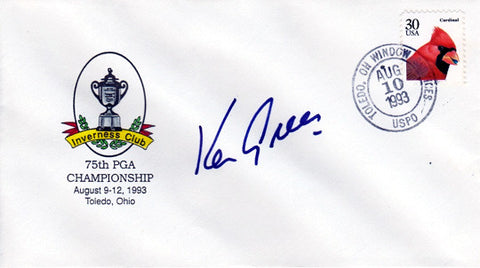Ken Green Signed Autographed 75th PGA Championship Cachet - TnTCollectibles