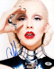 Music Collectible Christina Aguilera Hand-Signed Autographed 8x10 Photo with COA - TnTCollectibles